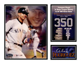 Alex Rodriguez - 350th Home Run Matted Print