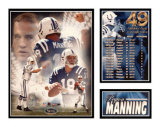 Peyton Manning - 49 Touchdowns Matted Print