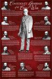 Confederate Generals Wall Poster