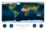 The Living Earth Art Print (North & South America, Europe, Africa, Asia, Australia)