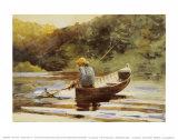 Ragazzo che pesca Stampe di Winslow Homer