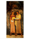 Mujeres con flores y frutos Pósters por Diego Rivera
