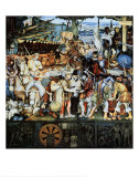 Disembarkation of the Spanish at Veracruz Art by Diego Rivera