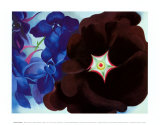 Black Hollyhock Blue Larkspur, 1930 Art by Georgia O'Keeffe