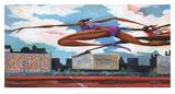Fliegende Mädchen Poster von Frank Morrison