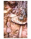 El consejo de la oruga Pósters por Arthur Rackham