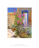 Hollyhocks and Lace Curtain Prints by Dale Amburn