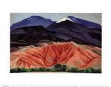 Black Mesa Landscape, Outside of Marie's Reprodukcje autor Georgia O'Keeffe