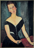 Madame G. van Muyden Prints by Amedeo Modigliani