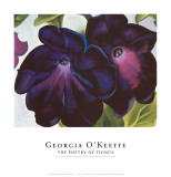 Black and Purple Petunia, 1925 Print by Georgia O&#39;Keeffe