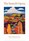 Rio Grande Valley Farmlands, Santa Fe Opera, 1999 Print by Susan Schwartz