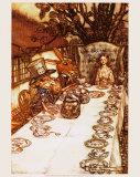 The Mad Hatter Tea Party, Giclee Print, Arthur Rackham, Illustrator