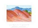 赤い丘とパードナル, 1936 高品質プリント : ジョージア・オキーフ