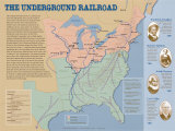 The Underground Railroad Map Affiches