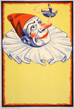 Clown on Yellow Background (c.1930) Collectable Print