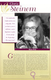 Pioneers of Women's Rights - Gloria Steinem Posters