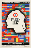 Paris 1937 Exposition (1937) Collectable Print by Jean Carlu