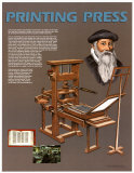 Inventions that Changed the World - The Printing Press Art