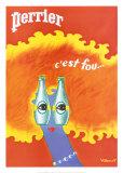 Perrier Posters par Bernard Villemot