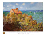 Fisherman&#39;s Cottage on the Cliffs at Varengeville Prints by Claude Monet