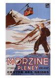 Morzine, reclame skigebied Kunst van Bernard Villemot