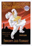 Pastas Alimenticias Estilo Italiano Poster