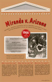 Landmark Decisions of the Supreme Court - Miranda v Arizona Wall Poster