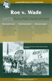 Roe v. Wade, Landmark Decisions of the Supreme Court posters