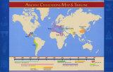 Civilizaciones antiguas: mapa y cronología Pósters