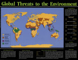 Global Threats to the Environment Wall Poster
