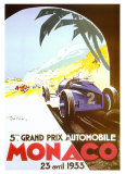 5th Grand Prix Automobile, Monaco, 1933 Plakater af Geo Ham