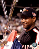 Miguel Tejada - 2004 All Star Game Home Run Derby Trophy Photo