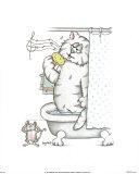 Chats de salle de bainVII Affiches par A. Langston