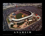 Anaheim : stade, Angels Baseball, Californie Affiches par Mike Smith