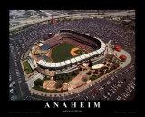 Estadio Edison Field de los Angels en Anaheim (California) Láminas por Mike Smith
