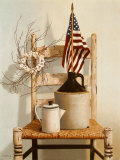 Chair with Jug and Flag Print by Cecile Baird