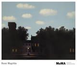 L'empire des lumières Affiche par Rene Magritte