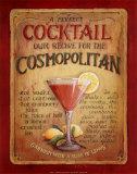 Przepis na koktajl Cosmopolitan, angielski Poster autor Lisa Audit