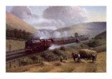 Ekspresslokomotivet, L.M.S. the Royal Scot, Tebay Troughs, 1935 Plakater af Gerald Broom