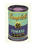 Campbell's Soup Can, 1965 (Green and Purple) Art by Andy Warhol