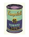 Campbells soppburk, 1965, grön och lila Posters av Andy Warhol