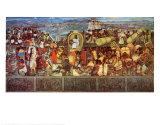 La gran ciudad de Tenochtilán Pósters por Diego Rivera
