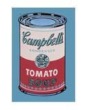 Campbell's Soup Can, 1965 (Pink and Red) Lminas por Andy Warhol