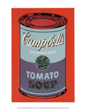 Campbell&#39;s Soup Can, 1965 (Blue and Purple) Art by Andy Warhol