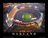 Oakland: Network Associates, Raiders Football Art by Mike Smith