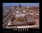 Seattle: Safeco Field, Mariners Day Game, 2003 Print by Mike Smith