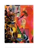 The Blues Affiche par Romare Bearden