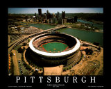 Pittsburgh - Three Rivers Stadium Final Season Posters by Mike Smith