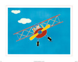 Cat in a Plane I Poster by Shelly Rasche