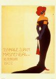 Tonhale Zurich Maskenbal, 1907 Poster